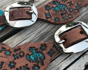 Broncs & Brands youth Spur straps