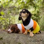 Candy Corn Dog Sweater | Small Breed | Crochet | Dog Costume | Halloween | Dachshund | Chihuahua | Dog Sweater | Pet Costume | Candycorn