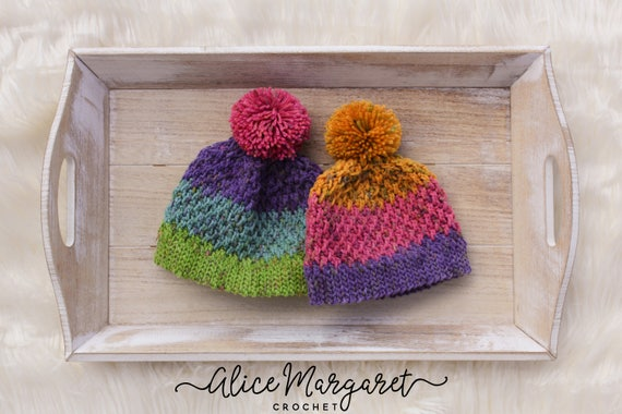 dde7681de28 Colorful Pom Pom Hat Winter Wear Matching Hats Striped