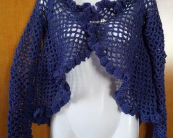 Jacket wheel in blue wool