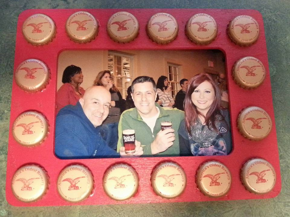 Yuengling bottle cap frame from DigDougProductions on Etsy Studio