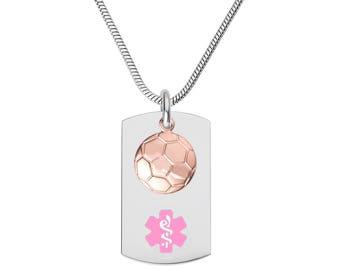 Divoti Custom Engraved 316L Medical Alert Necklace 24