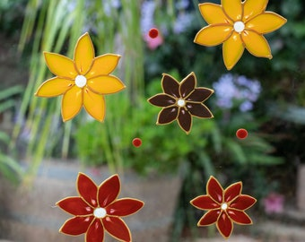 Wild Grass with Flowers and Insects Window Border Decal Reusable Glass Door Sticker Decals Flower Window Clings Adhesive Free Spring Decorations Window Stickers