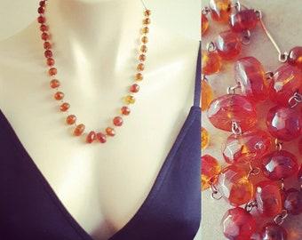 Vintage 1930s Baltic Amber Necklace, Art Deco Baltic Amber Necklace, Genuine Amber Jewellery, Baltic Amber Necklace