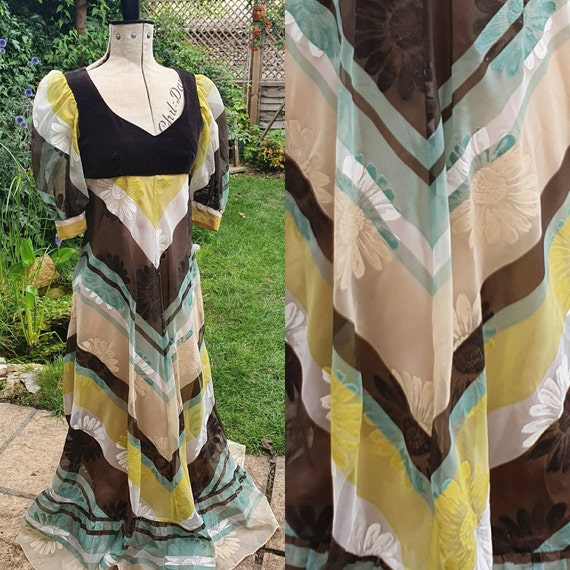 Vintage Kati by Laura Philips, 1970s Maxi Dress, F