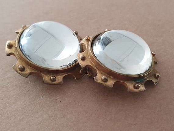 Farah Lister London Clip On Earrings, Vintage Sta… - image 2