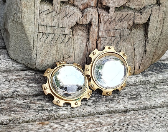 Farah Lister London Clip On Earrings, Vintage Sta… - image 1