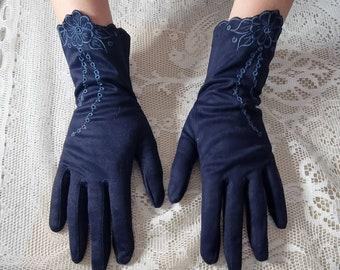 Vintage Navy 50s Millington Dress Gloves Size 7  Vintage Nylon Simplex 50s Navy Gloves, Vintage