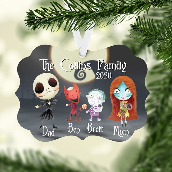 Jack and Sally ornaments Nightmare before Christmas ornaments Christmas ornament,
