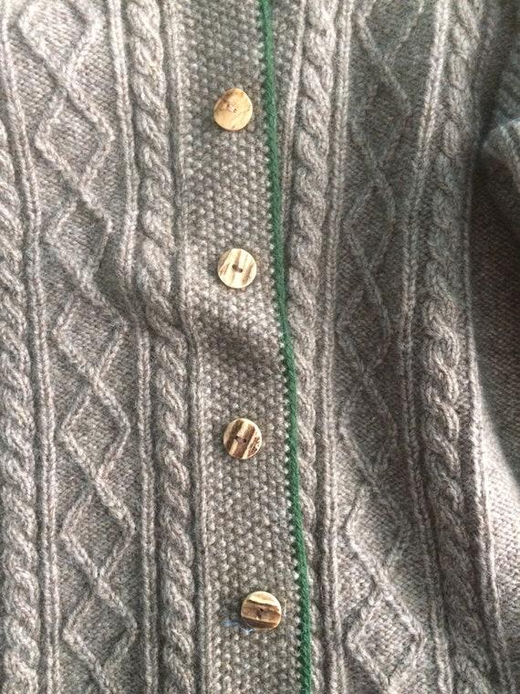 Men's Hand Knit Tyrol Austrian sweater jacket - image 5