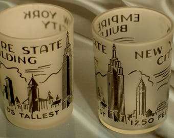 pair of frosteg New York City, EMPIRE STATE BUILDING glasses