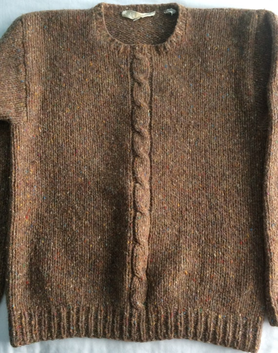 Perry Ellis hand knit sweater