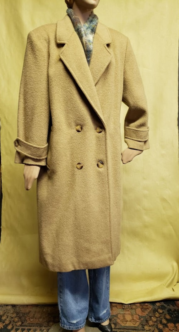 Vintage Oversize Classic Wool and Mohair Camel Dou