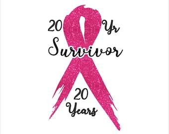 Breast Cancer Survivor Ribbon Digital File  SVG, ESP, PNG, Jpg File