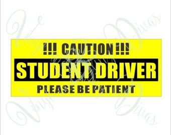 Student Driver Digital File  SVG, ESP, PNG, Jpg File