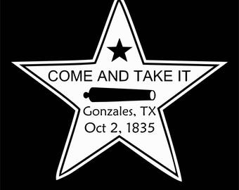 come and take it star Digital File  SVG, ESP, PNG, Jpg File