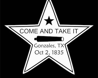 come and take it star Digital File  SVG, ESP, PNG, Jpg File