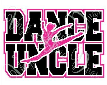 Dance Uncle with Border  Digital File  SVG, ESP, PNG, Jpg File