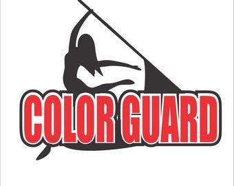 color guard design Digital File  SVG, ESP, PNG, Jpg File