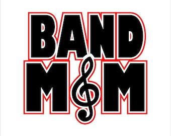 Band Mom Digital File  SVG, ESP, PNG, Jpg File