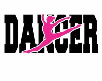 Dancer  Digital File  SVG, ESP, PNG, Jpg File