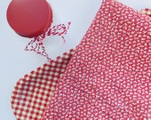 Full Size Vintage Feedsack - Red White - Classic Color and Style