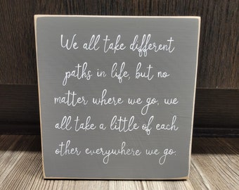 going away gift idea, going away wood sign, going away gift, friend gift idea, encouragment sign, handmade wood sign, miss you gift