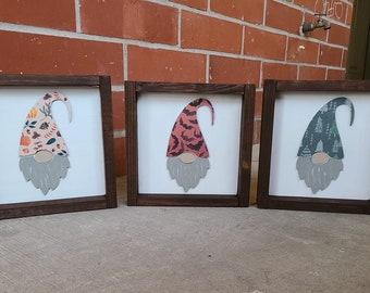 holiday gnome sign, holiday gnomes, gnomes wood sign, gnome sign, halloween gnome, fall gnome, winter gnome, gnome decor