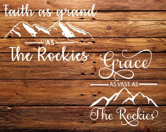 The Rockies SVG