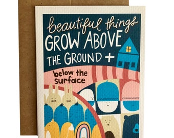 Above Ground, Below the Surface Card