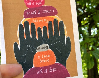 All Is Held Greeting Card