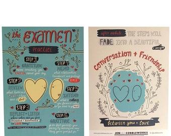Examen Steps Postcard