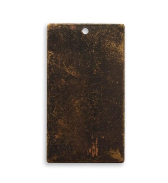 Flans d'emboutissage de métal Vintaj Bronze laiton naturel Rectangle pendentifs main vide estampage Rectangle blancs 32mm Made in USA en vrac 36pcs