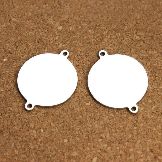 60pcs Oval Heart Shape Metal Tags Pendants Stamping Blank Engraving Charms