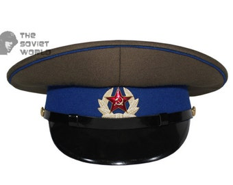 fffb7378e83 Soviet military KGB privates and sergeants and petty officers russian visor  cap USSR hat