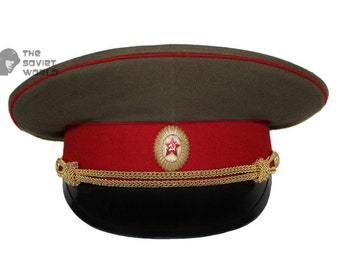 28c431a7a6d26 Soviet Army Officer visor cap of Russian Infantry troops M69 USSR hat