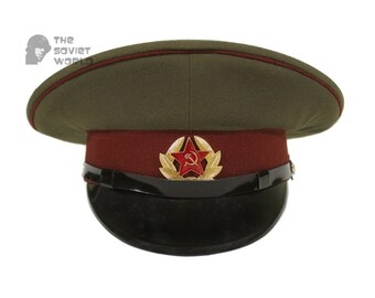 918b2e04a1b Soviet military Internal troops MVD privates and sergeants and petty  officers russian visor cap USSR hat