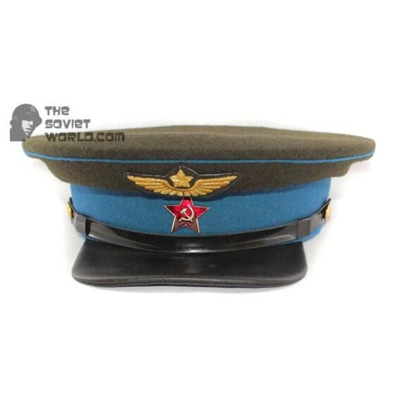 174d3893cb1f2 Soviet russian Red Army Aviation Officer s visor cap RKKA