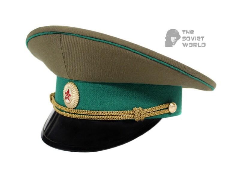 9a5507db9 Soviet Army Officer visor cap of USSR Border Guard troops M69 hat