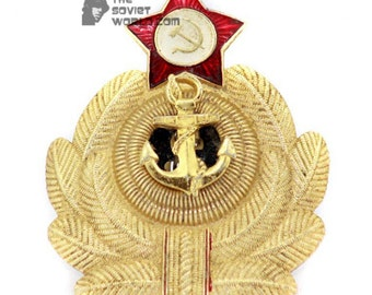 Soviet Army Military USSR Naval hat badge Cocarde