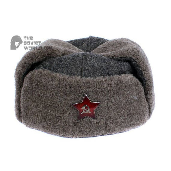 GENUINE Vintage WWII Soviet ushanka RKKA winter russian warm  cc7855de038
