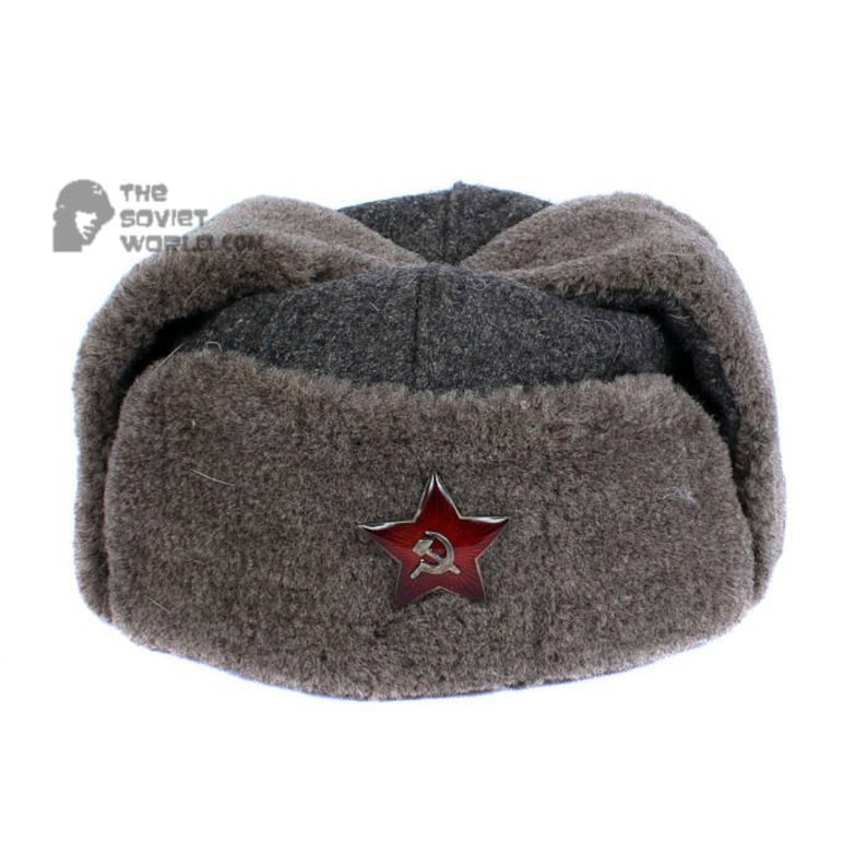 ccc144505fb92 GENUINE Vintage WWII Soviet ushanka RKKA winter russian warm