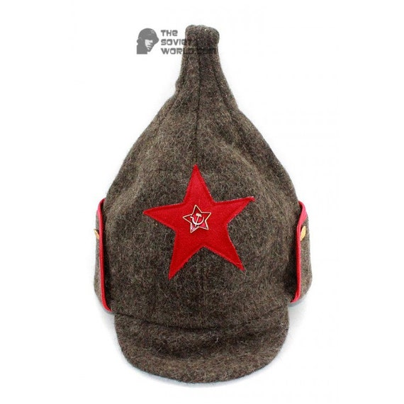 f7160a7fdc8 Soviet military Russian Red Army woolen winter warm gray hat