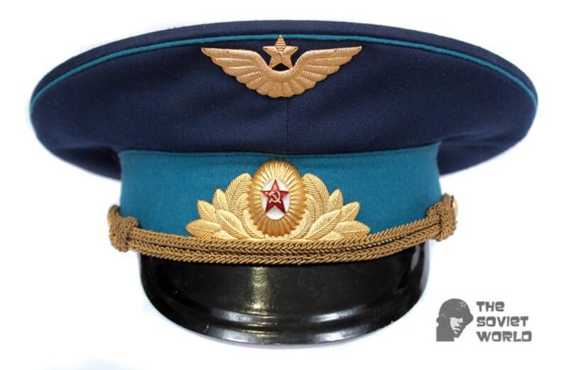 Boutique en ligne descuento hasta 60% venta caliente Sombrero militar de fuerza aérea desfile oficial soviético aviación rusa  visera tapa USSR