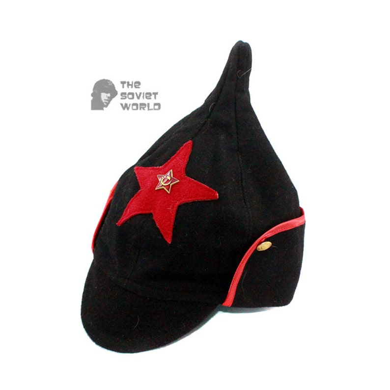 7a19786e035 Soviet military Russian Red Army woolen black warm winter hat