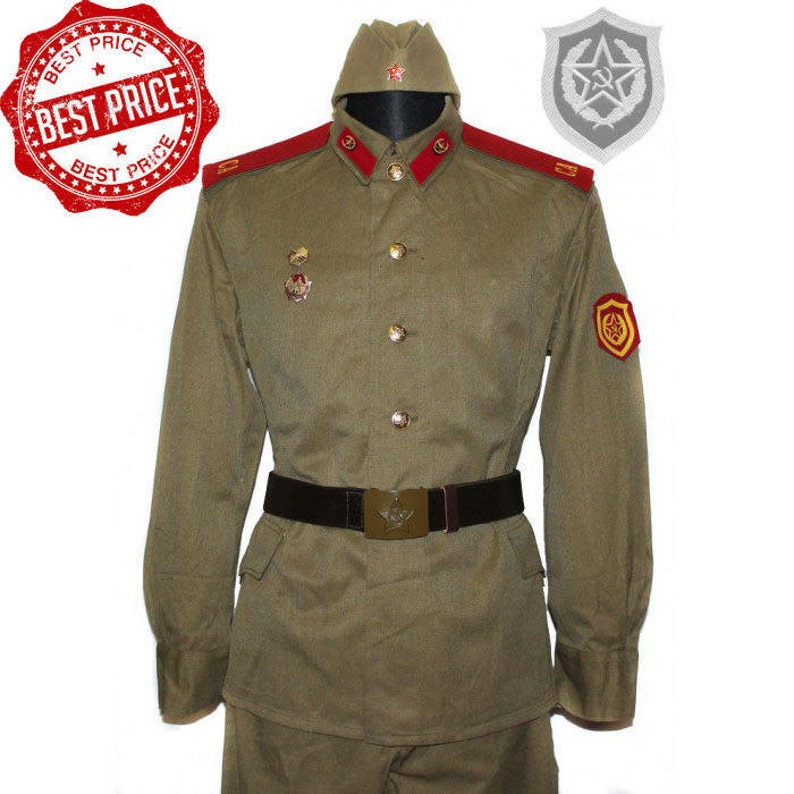 fb41d0c0ff7 Original Red Army Soviet Russian Soldier khaki cotton WWII