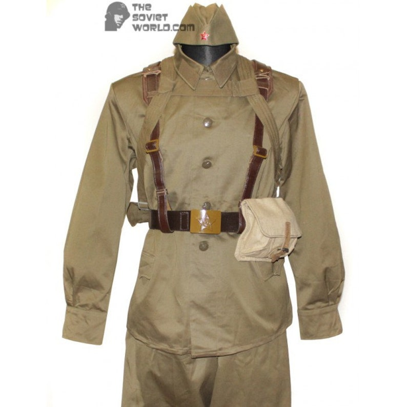265f1dab9 Soviet Army soldier military russian uniform M73 USSR khaki Gimnasterka  jacket and pants