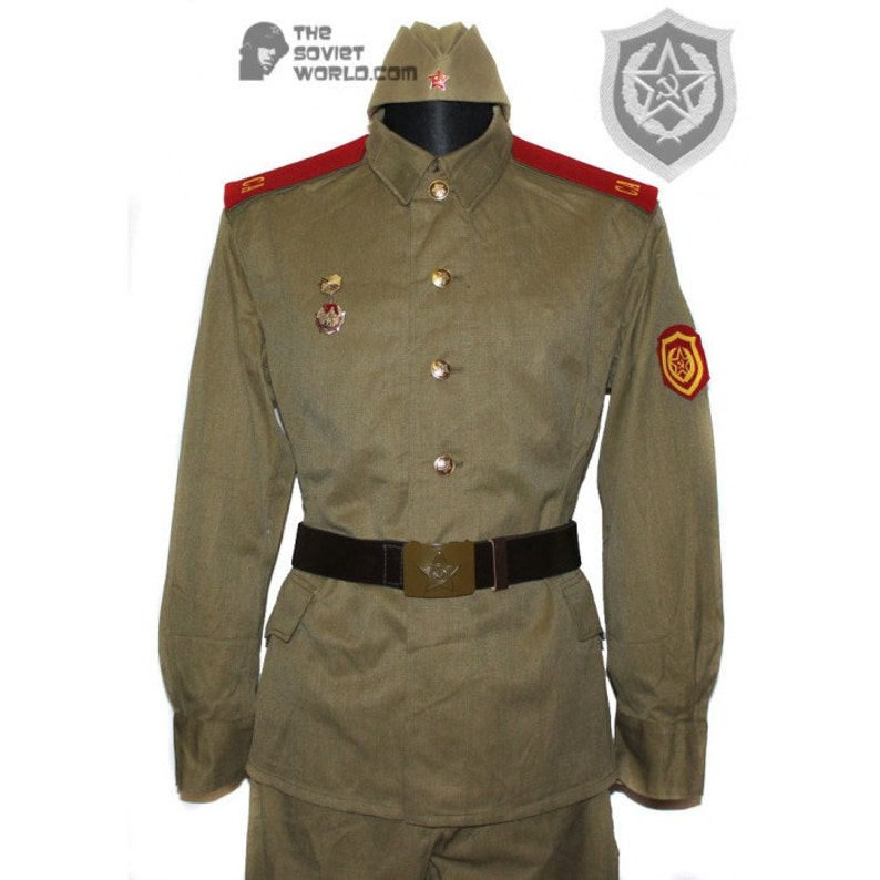 Authentic Soviet Russian Military Soldier Army trouser belt