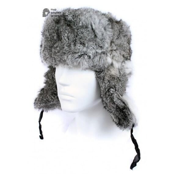 17a59bd93f7 Russian Soviet original vintage Gray Rabbit USSR fur winter