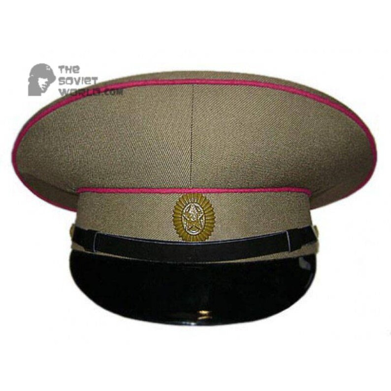 25e763cd94b Soviet Red army hat   Russian military GENERAL Field VISOR CAP